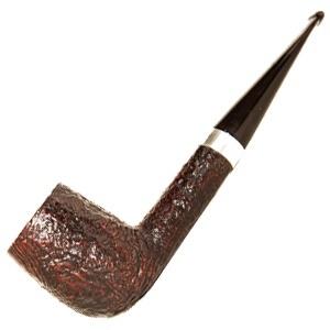 Dunhill Shell LBS 1961 Billiard Smoking Pipe Silver Band
